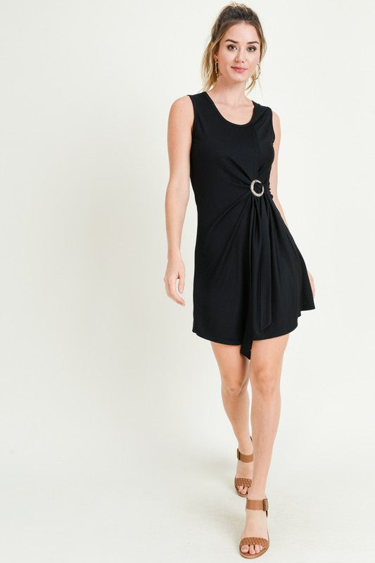 Dress with Asymmetric Hem