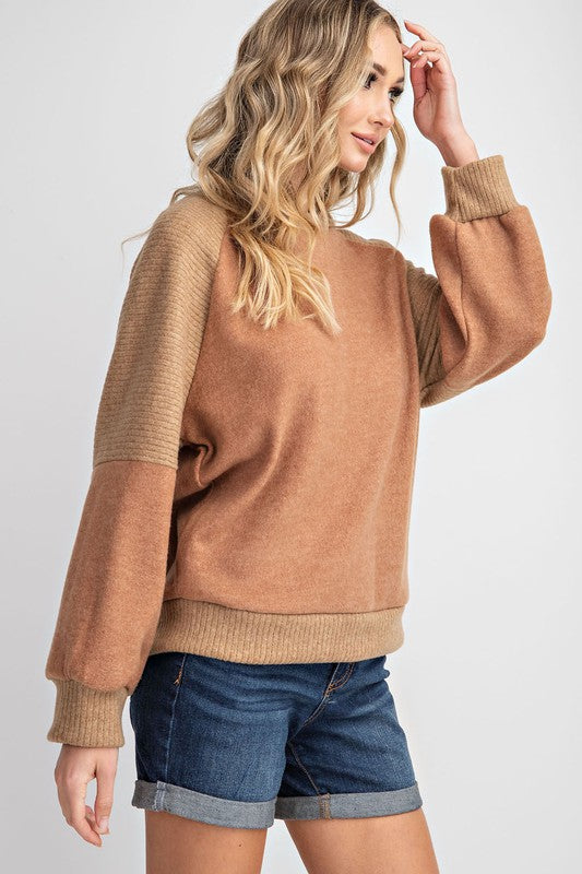Brushed Soft Knit Top