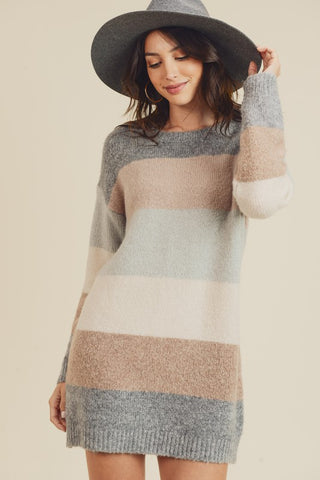 Colour Block Tunic Sweater