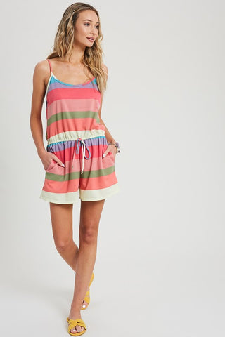 Multi Colour Striped Romper