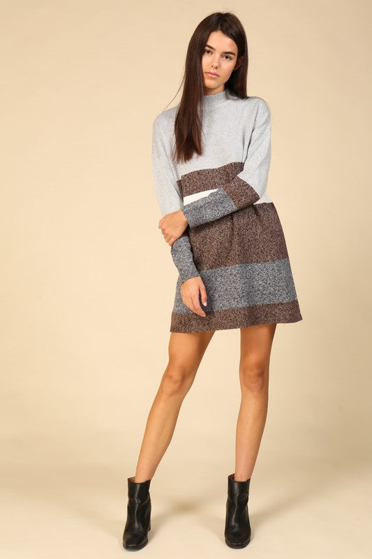 Colour Block Sweater Dress