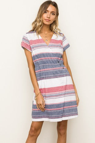 Colour Block Short Sleeve Dress