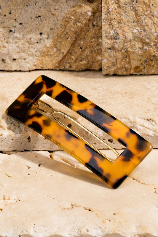 Acetate Hair Clip In Tortoise