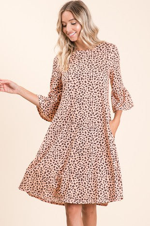 Animal Print Dress With Pockets
