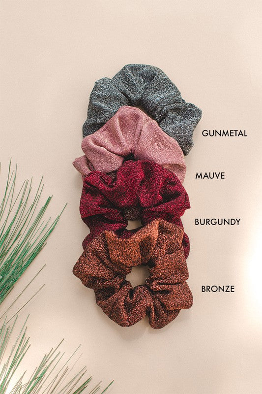 Glitter Cotton Scrunchie