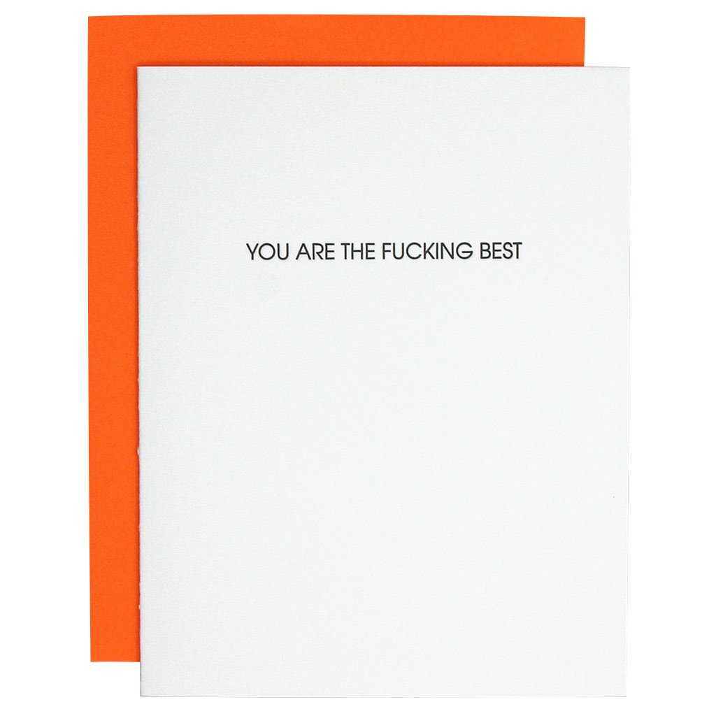 """You Are the Fucking Best"" Greeting Card"