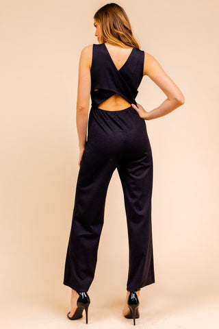 Crossover Back Jumpsuit
