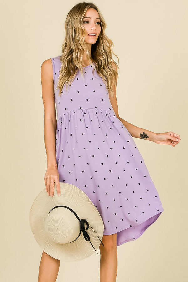 Sleeveless Polka Dot Dress