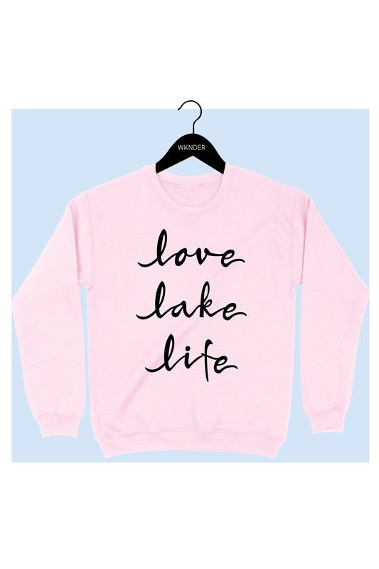 Love Lake Life Graphic Sweatshirt