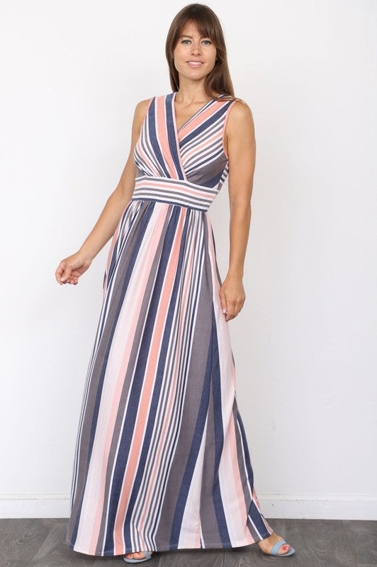Vintage Stripe Maxi Dress