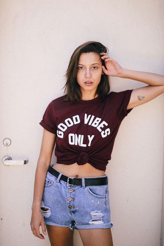 """Good Vibes Only"" Unisex T-Shirt"