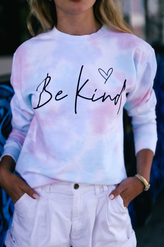 """Be Kind"" Tie Dye Sweatshirt"
