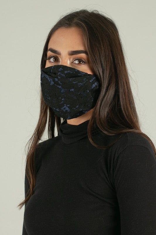Midnight Lace Adult Face Mask