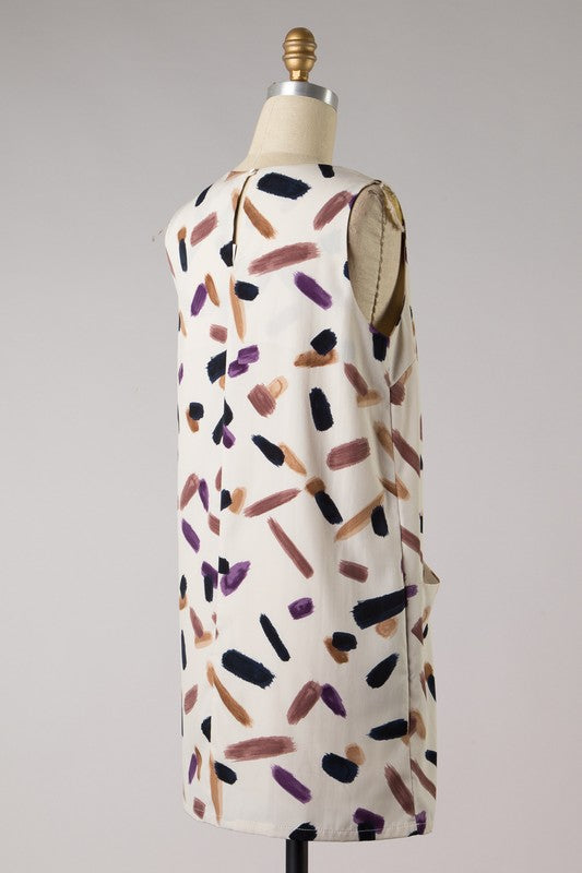 Abstract Print Mini Dress