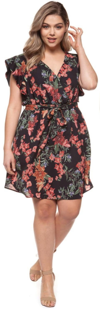 Dex - Floral Wrap Dress