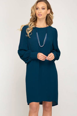 Puff Long Sleeve Dress