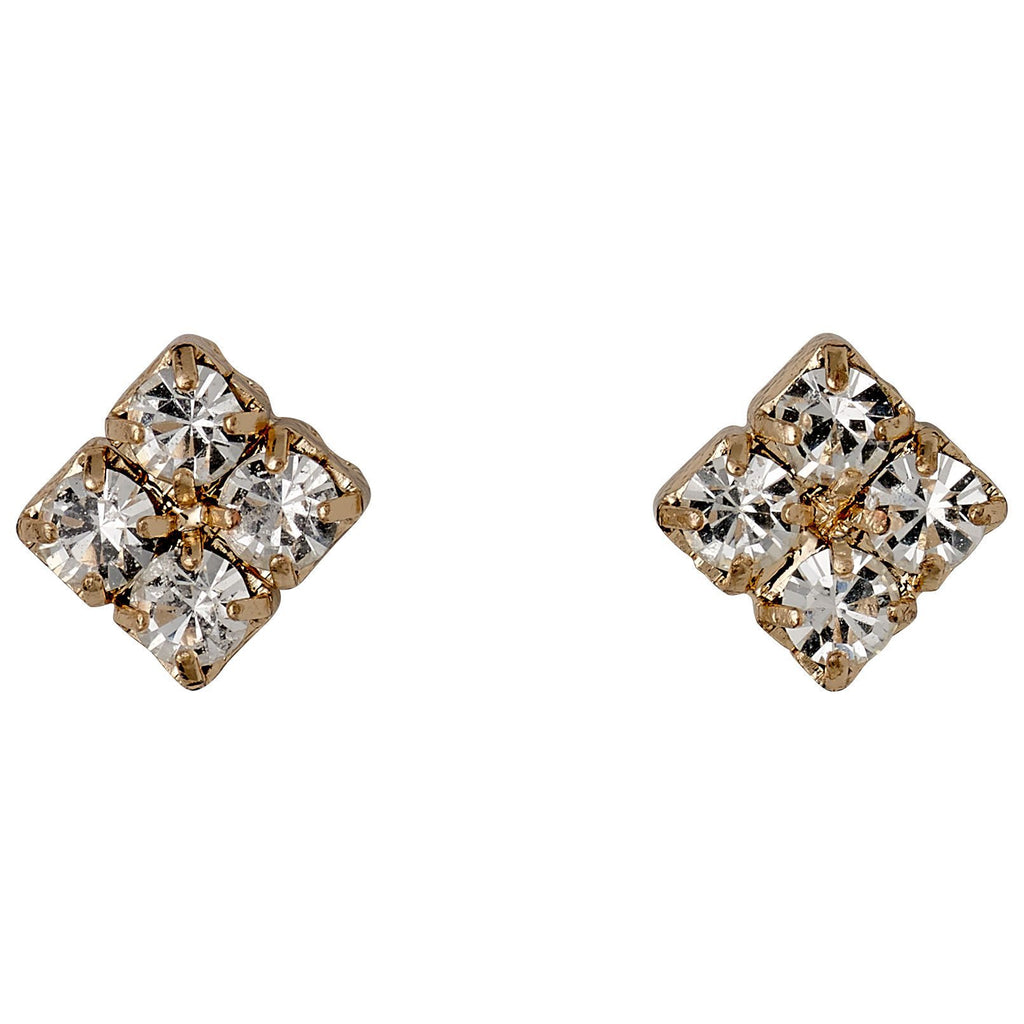 Pilgrim - Rose Gold & Crystal Studs