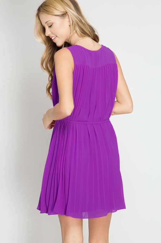 Ruffle Pleat Dress