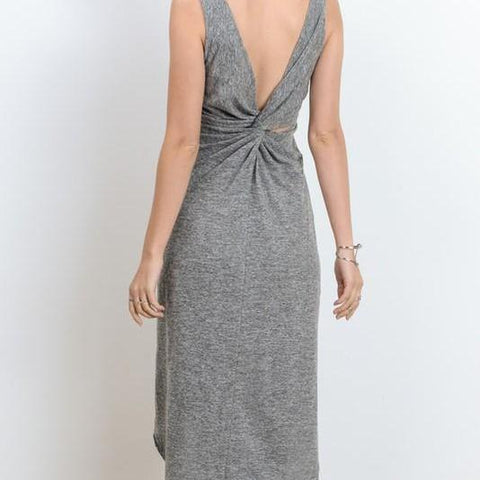 Back Twist Tank Dress