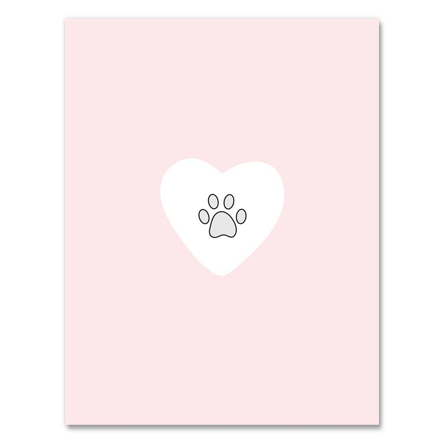 Simple Pet Sympathy Card
