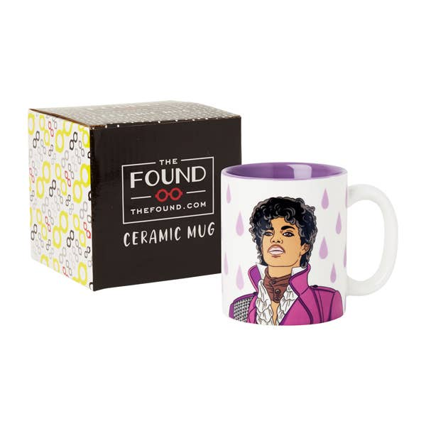 """Purple Rain"" 12oz Prince Coffee Mug"