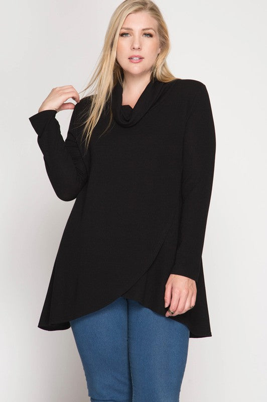 Tulip Front Cowl Neck Tunic