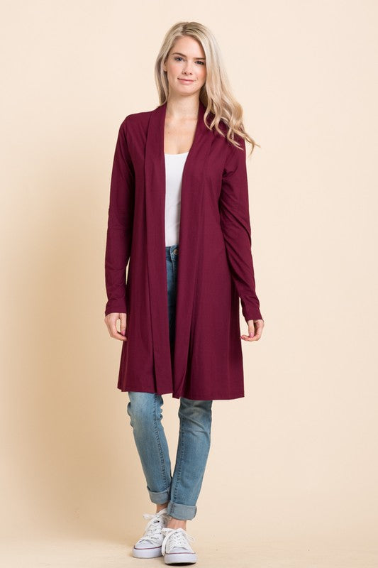 Solid Elbow Patch Cardigan