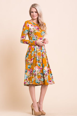 Fit & Flare Floral Dress