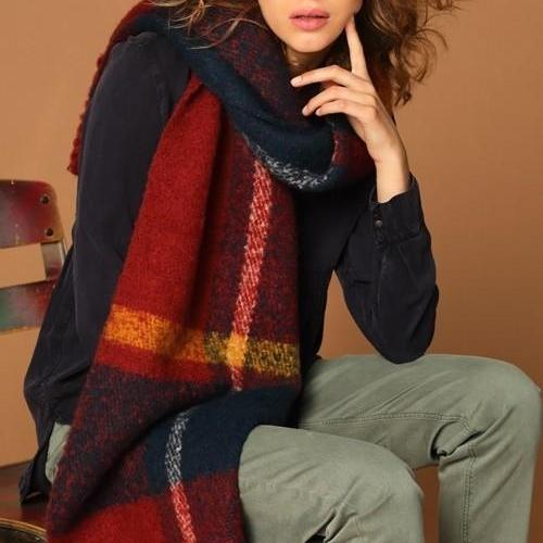 Chunky Multi Color Oblong Scarf