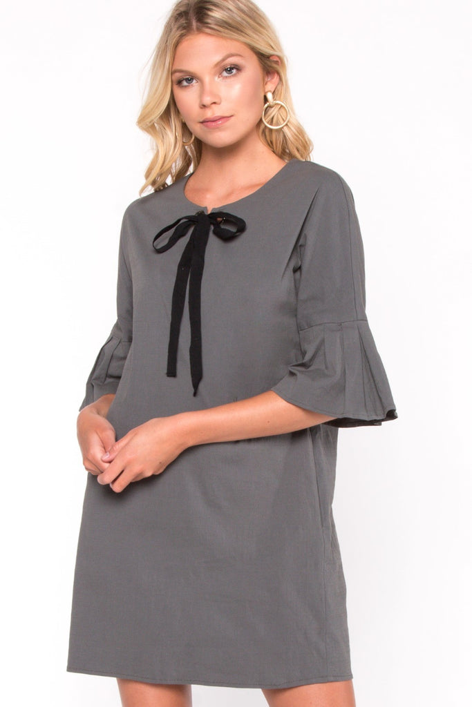 Tie Detail Shift Dress