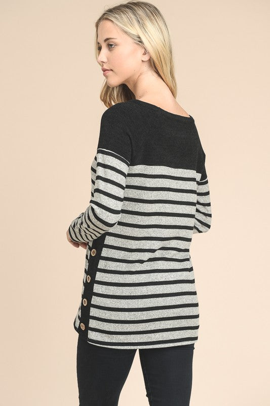 Side Button Pullover