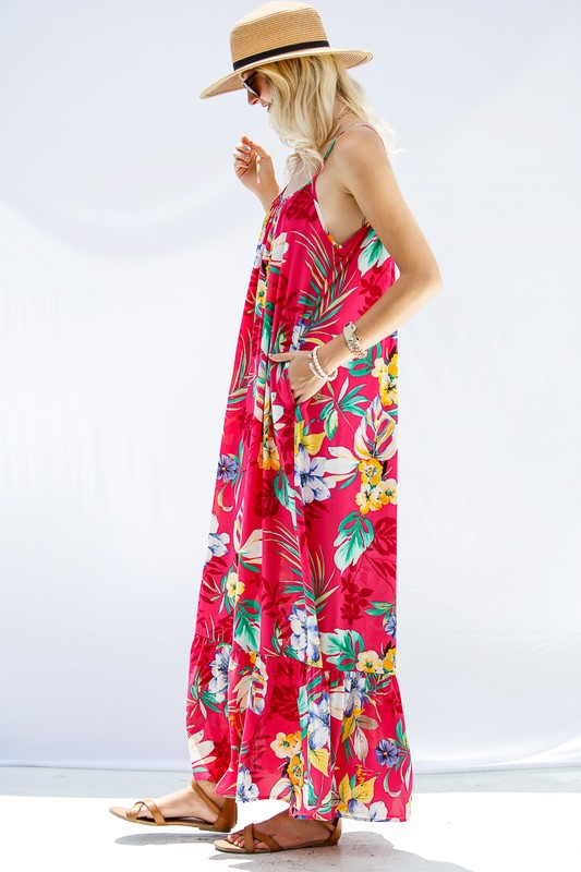 Floral Print Maxi With Pockets