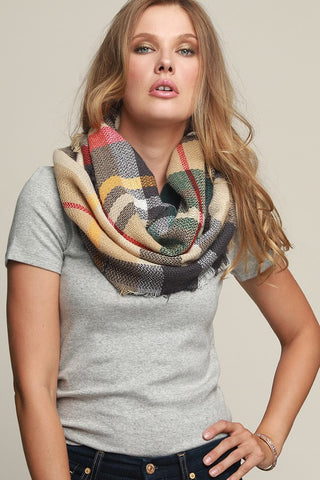 Everyday Plaid Infinity Scarf