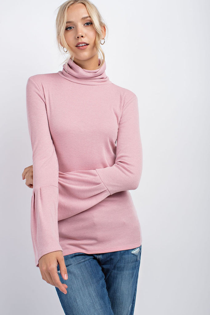 Turtleneck with Bell Sleeves