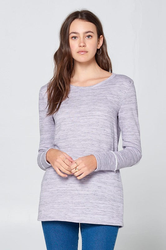 French Terry Tunic Top