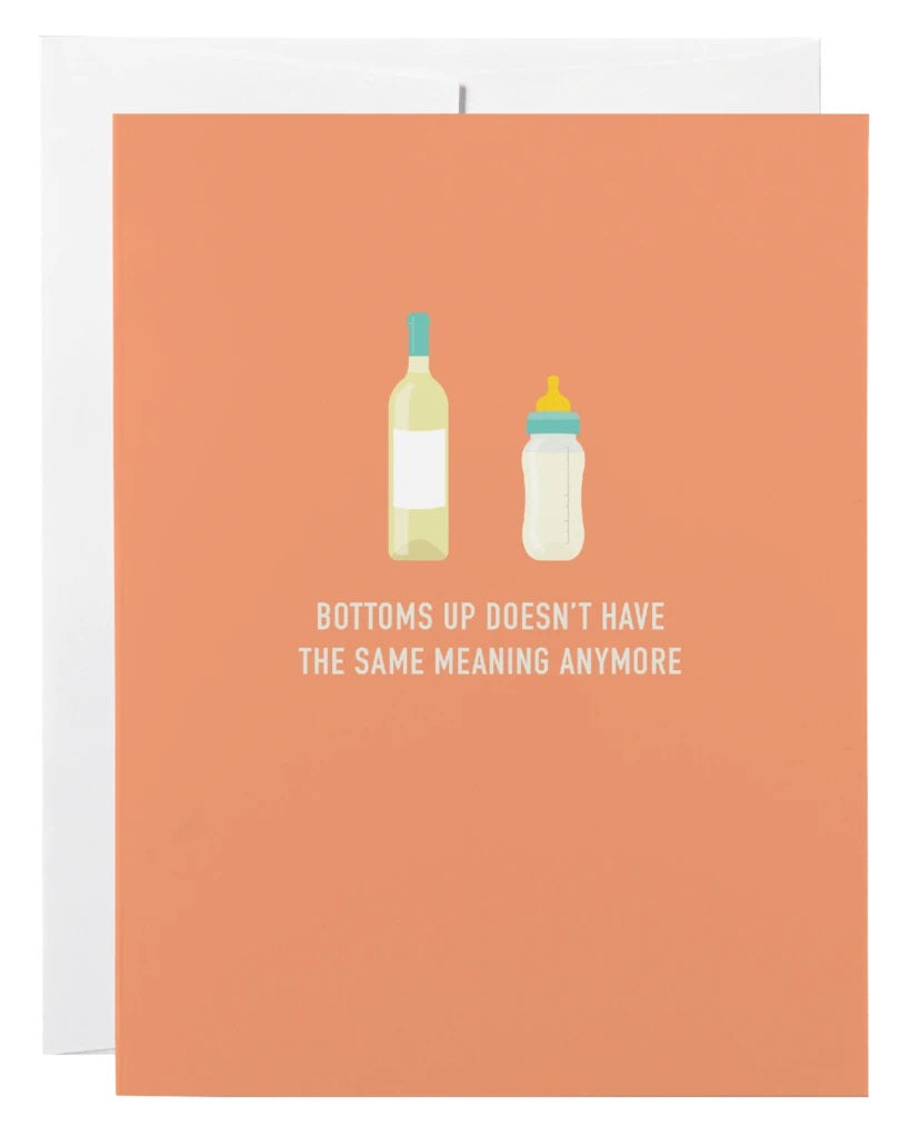 Bottoms Up Baby Shower Card