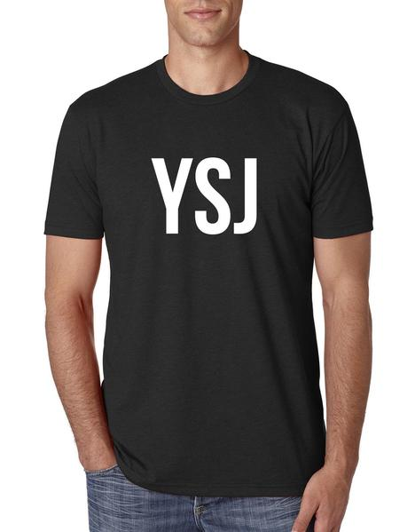 Unisex YSJ T-Shirt - Black/White
