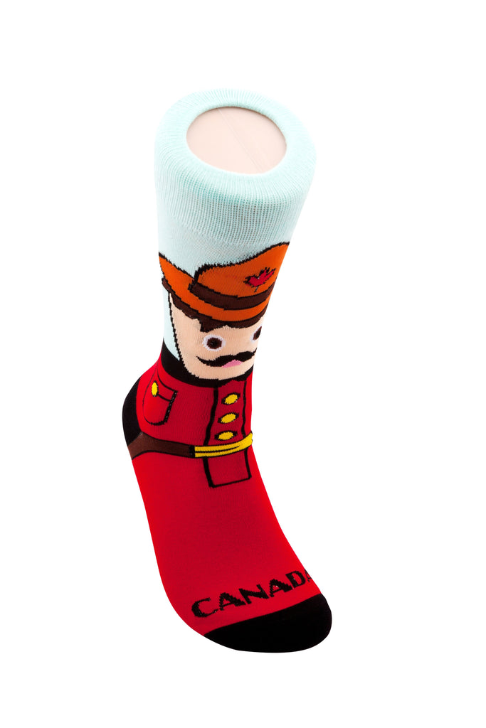 Main And Local - Canadian Mountie Socks