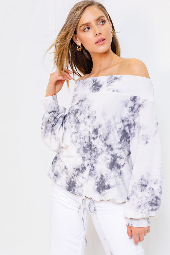 Off Shoulder Tie-Dye Top