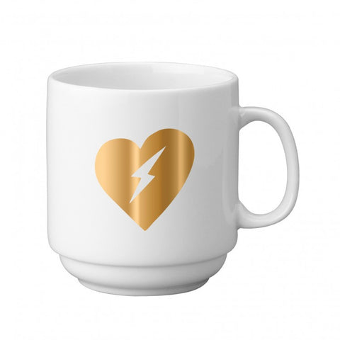 Electric Heart Porcelain Trendy Coffee Mug