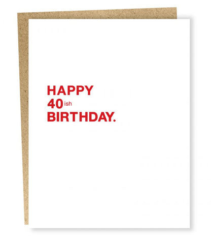 Sapling Press - Make A Wish: 40ish Birthday Card