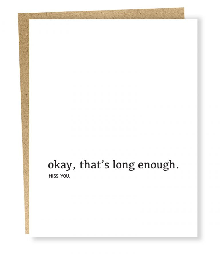 Sapling Press - Well Wishes: Long Enough Card