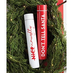 """Don't Tell Santa"" Slim Flask Bottle"