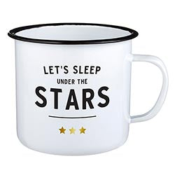 """Let's Sleep Under The Stars"" 24oz Enamel Mug"