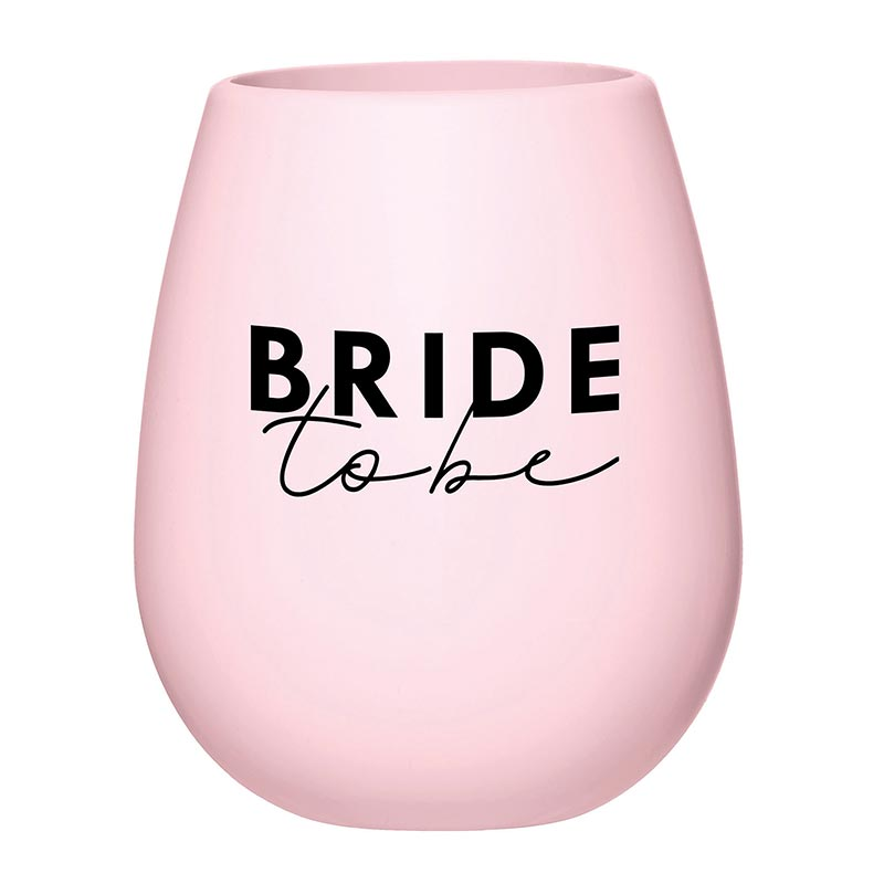 """Bride To Be"" Silicone Wine Glass"