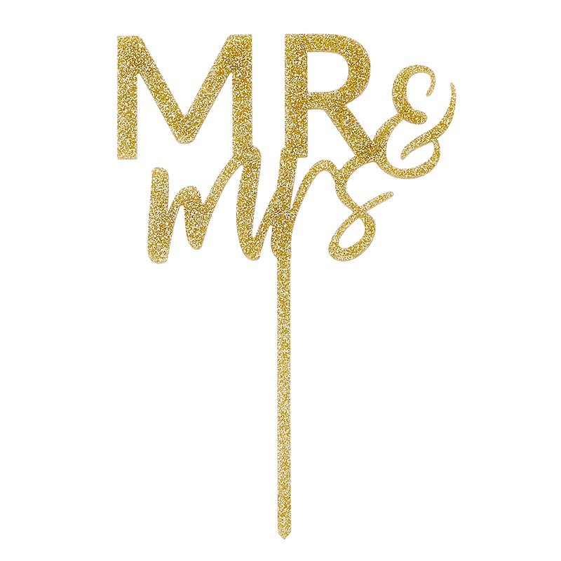 """Mr. & Mrs."" Acrylic Cake Topper"