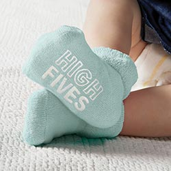 """High Fives & Fist Bumps"" Baby Socks"