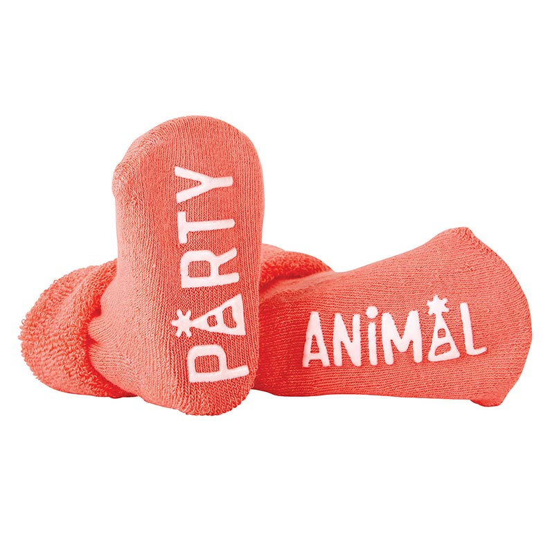 """Party Animal"" Baby Socks"