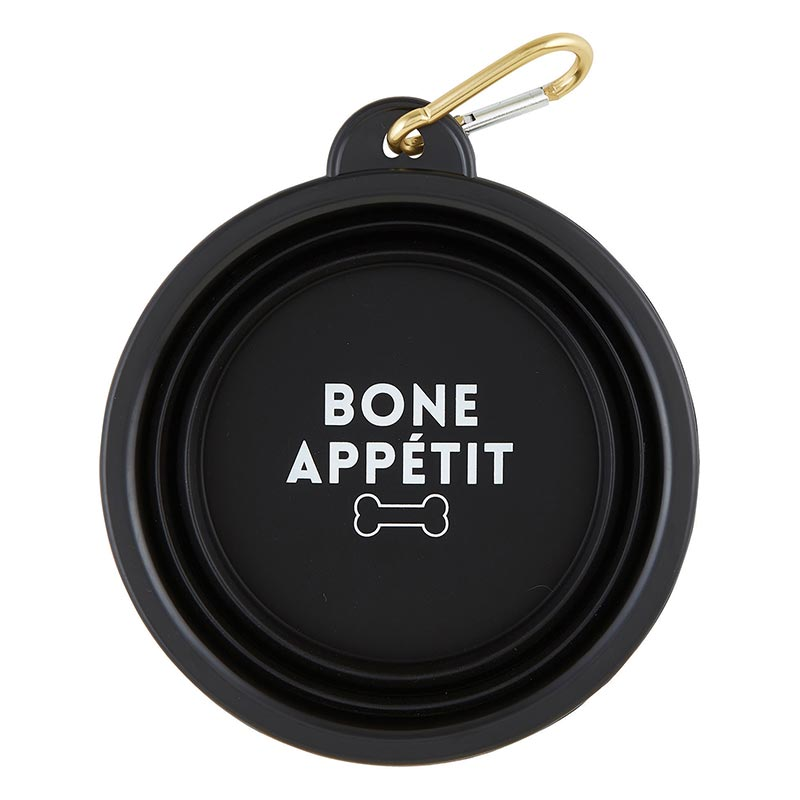 """Bone Appétite"" Collapsible Pet Bowl"