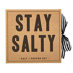 """Stay Salty"" Salt & Pepper Mill Gift Set"